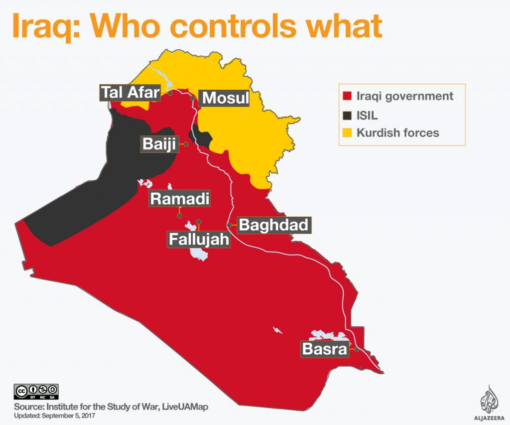 Iraq - Security Situation - September, 2017